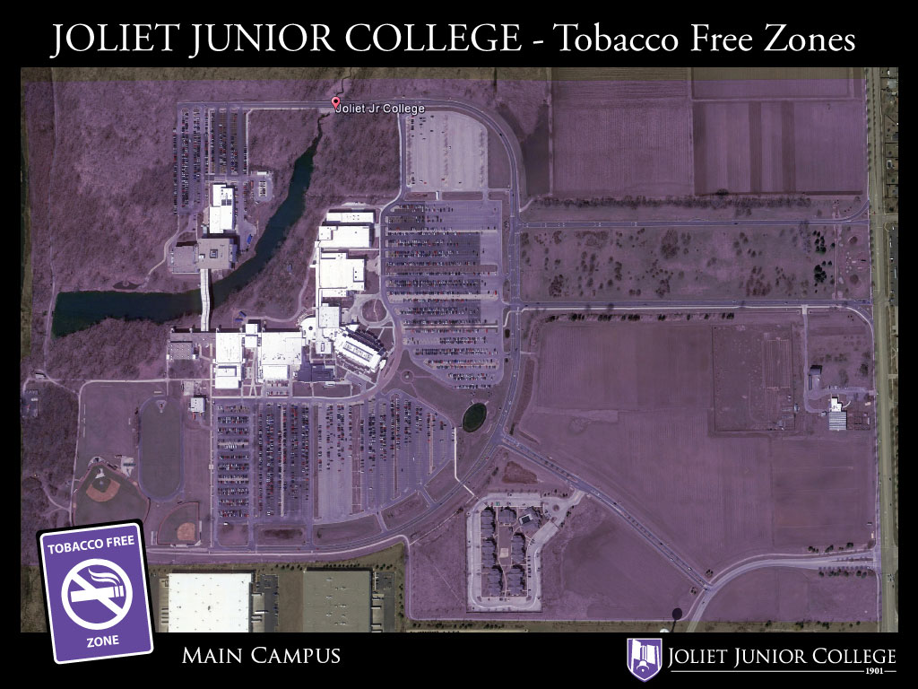 JJC Smoke Free Zones, photo map.